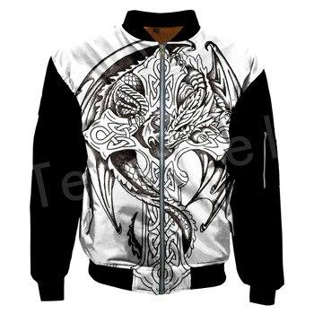 Tessffel Unisex Viking Tattoo Viking Warriors Tracksuit New Fashion casual Men/Women 3DPrint Hoodies/Hoodie/Bomber Jackets s-5