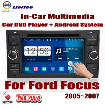 Car Radio DVD Player GPS Navigation For Ford Focus 2005~2007 Android HD Displayer System Audio Video Stereo In Dash Head Unit