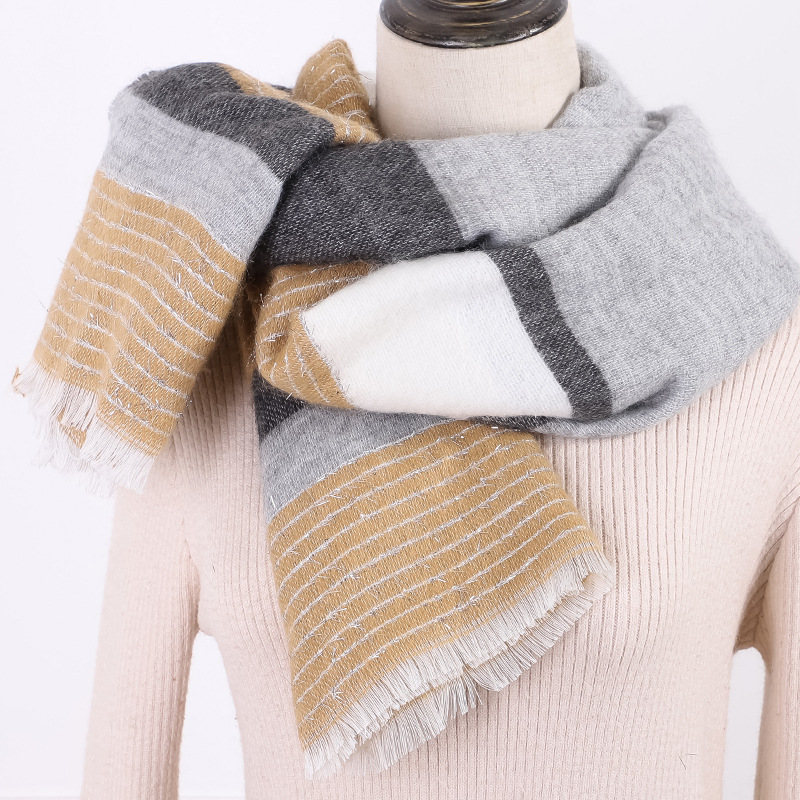 Manufacturers OEM 19 Years New Style Foreign Trade Color Faux Cashmere Liangsi Winter Style Scarf Customizable Wholesale A Gener