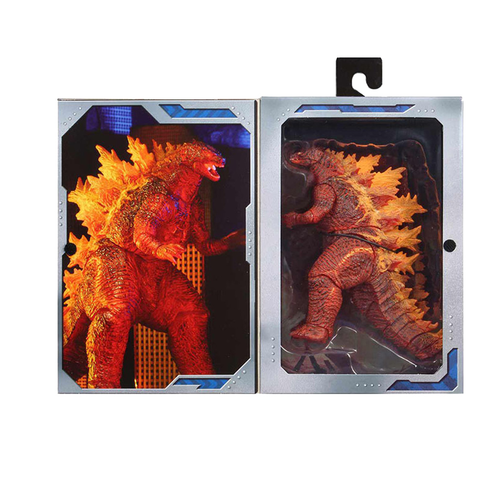 NECA Red Fire Burning Gojira Articulated PVC Action Figure Collectible  Dinosaur Toys Model Toys