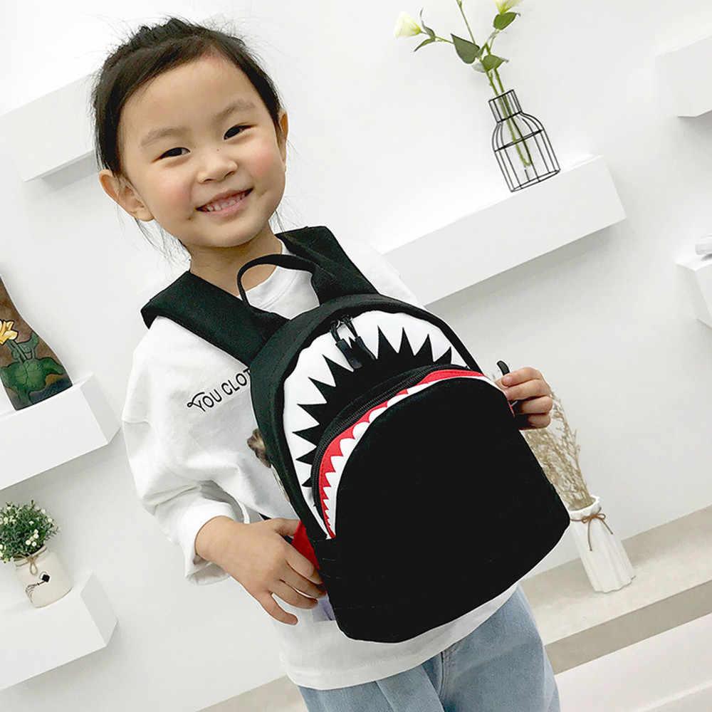 Mochila para niños, bebés, niños, dibujos animados, tiburón, animales, mochila para niños, mochila escolar para niños, mochila informal para adolescentes