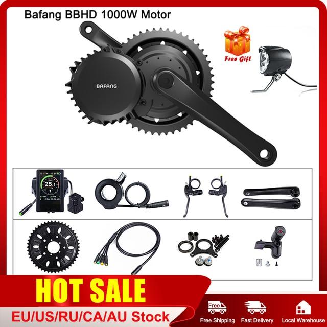 Bafang 48v 1000 ワットbbshd/BBS03B midドライブ方式モータ電動bb 68 73 ミリメートル自転車変換キット 8FUN e バイク強力なモーターディスプレイ