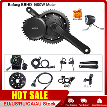 Bafang 48v 1000w bbshd/bbs03b mid drive motor elétrico bb 68 73mm kits de conversão de bicicleta 8fun e bike poderosa exibição do motor