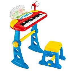Лидер продаж; большие размеры 37-Ключ Дети многофункциональная электронная клавиатура пианино С микрофоном развивающая игрушка в подарок д...