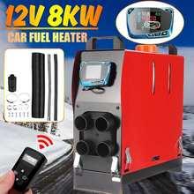 Interruptor chave do lcd dos barcos do motor do ônibus dos caminhões do rv com controle remoto calefator 4 dos furos do carro do calefator 8kw 12v do ar do carro