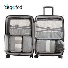 Yeqofcd	7 Pieces Set Travel Bag Clothing Sorting Organize Waterproof Packing Cubes High Quality Luggage Bags For Women And Men