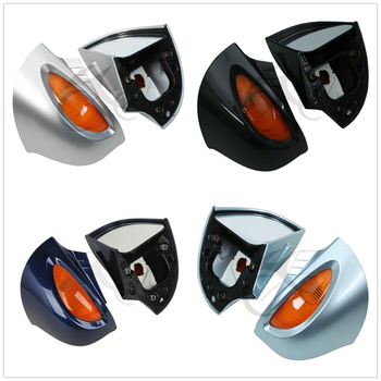 Side Rear mirrors Turn signal For BMW R1100RT R1150RT R1100 RT R1150 RT Silver Black Blue 3 color image
