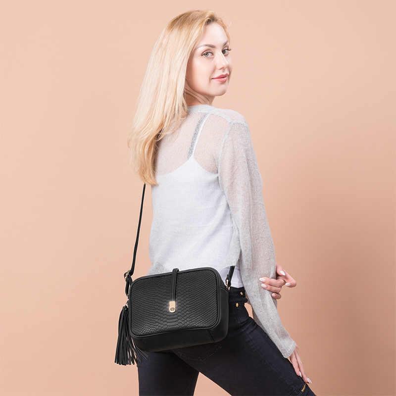 REALER kleine schulter tasche für frauen messenger taschen damen retro PU leder handtasche geldbörse mit quasten weiblichen crossbody-tasche