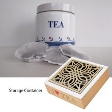 Delicate Convenience Wooden Tea Storage Chest Box with 9 Compartments Glass Window Home Storage