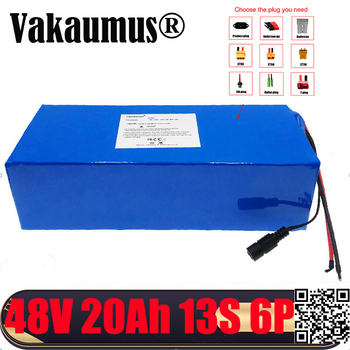 Fast delivery 48V 20Ah Batery Pack Built-in 30A BMS 18650 cell rechargeable li ion bateria For electric bicycles motor Vakaumus image