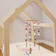 Baby Toys Cart-Accessories Hanging-Decor Crochet Wooden Mobile Rattle Bed-Bell Play Gym