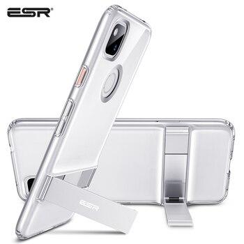 Перейти на Алиэкспресс и купить ESR деловой чехол для телефона 2020 Google Pixel 4a 3a 4 XL 3 XL гибкий ТПУ металлический ударопрочный чехол с подставкой для Google Pixel 4 XL