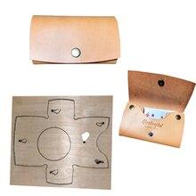 2 sztuk/zestaw japonia ostrze ze stali DIY skóra craft Snap posiadacz karty portmonetka die cutting puncher hand tool