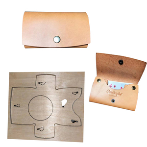 Image 1 - 2pcs/set Japan Steel Blade DIY leather craft Snap card holder coin bag die cutting puncher hand tool