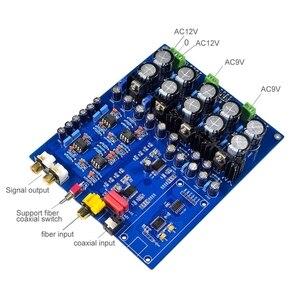 Image 2 - Chip Dual Ak4396Vf + Ak4113 Dac decodificador soporte de fibra Coaxial tablero de decodificación Diy para amplificadores de potencia altavoces