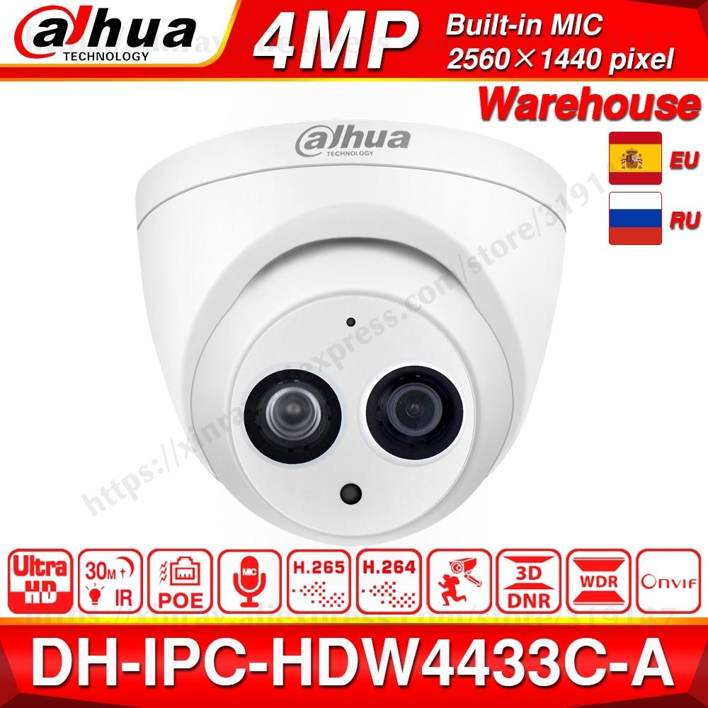 大華 IPC HDW4433C A オリジナル 4MP POE ネットワーク IR ミニドーム Cctv IP カメラ Starnight 内蔵マイク交換 IPC HDW4431C A  グループ上の セキュリティ & プロテクション からの 監視カメラ の中 1