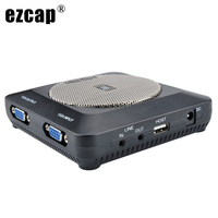 1080P HDMI Lecture Recorder VGA In Out Video Capture Card Microphone Mic Input Record Lecture Lessons Conference To USB U Disk