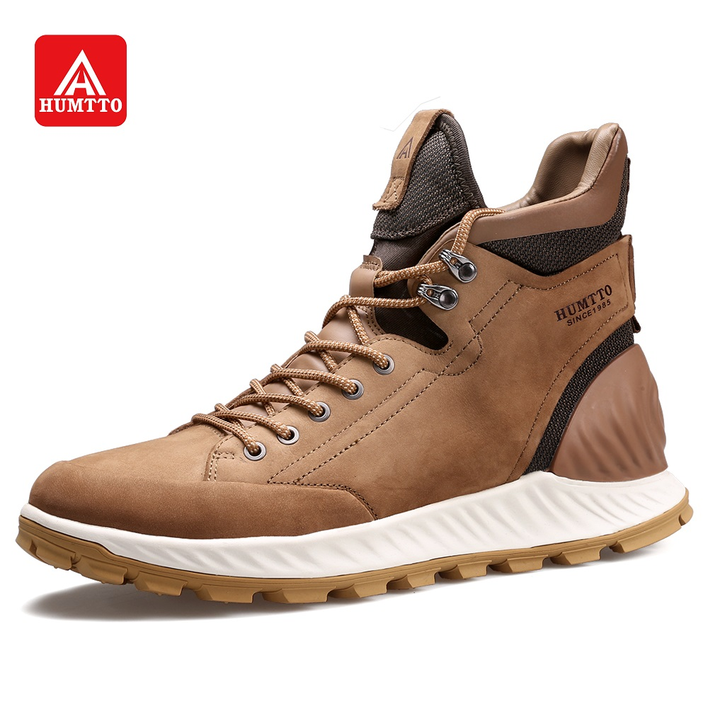 classic fit huge selection of outlet boutique HUMTTO Outdoor Casual Boots for Men High Cut Hiking Shoes Fashion ...