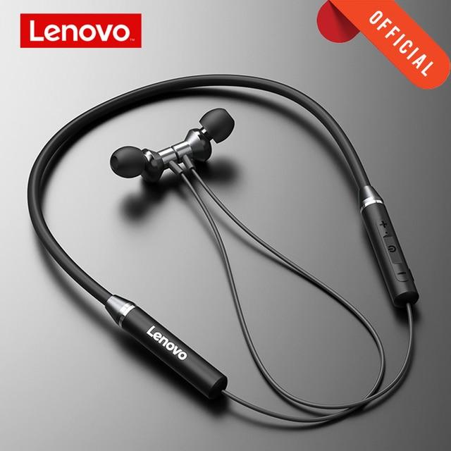Lenovo Earphone Bluetooth5.0 Wireless Headset Magnetic Neckband Earphones IPX5 Waterproof Sport Earbud with Noise Cancelling Mic 1