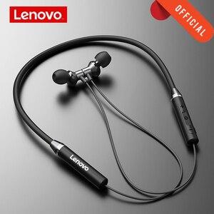 Lenovo Earphone Bluetooth5.0 Wireless Headset Magnetic Neckband Earphones IPX5 Waterproof Sport Earbud with Noise Cancelling Mic(China)