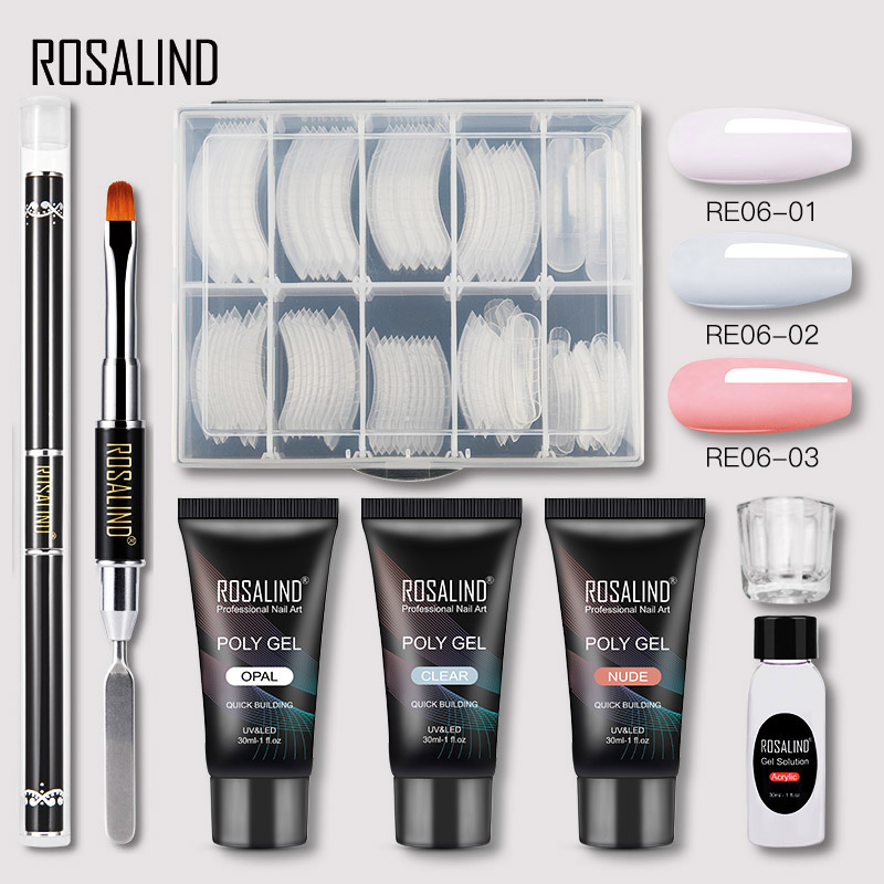 ROSALIND Polygel Nail Kit Of Nail Art Decorations Extension Nail Kit Professional Set All For Manicure Gel Polish Set