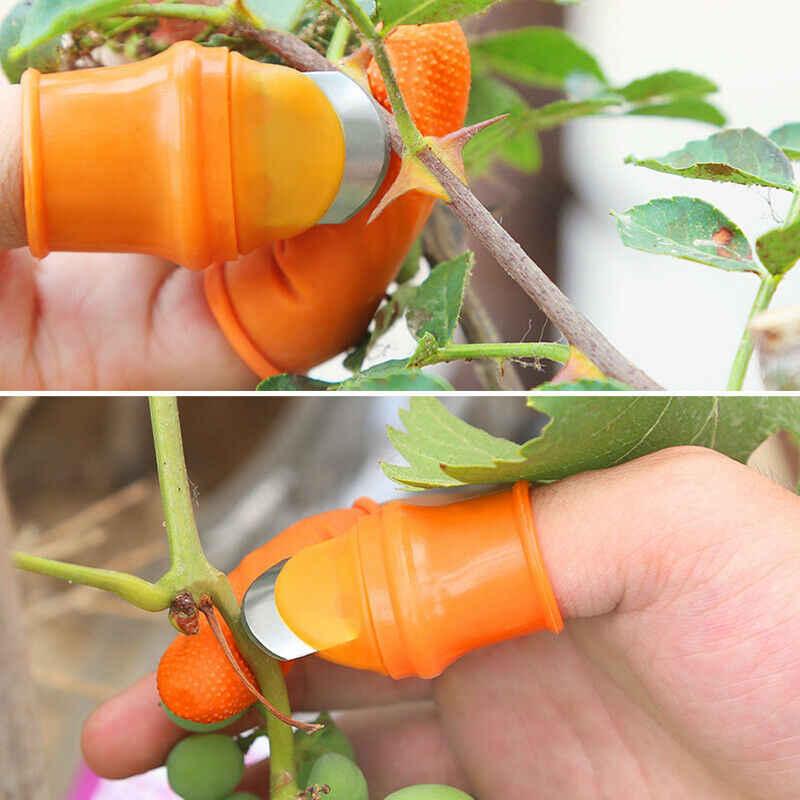 1 قطعة الإبهام القاطع الخضار الطماطم ملتقط فاكهة فاصل فنجر أداة شفرة حادة اليد قطع أداة لحصاد حديقة النبات