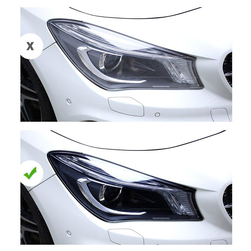 Lsrtw2017 pour gla x156 a-class w177 w205 w213 mercedes benz noir transparent anti-rayures TPU film de protection de phare de voiture
