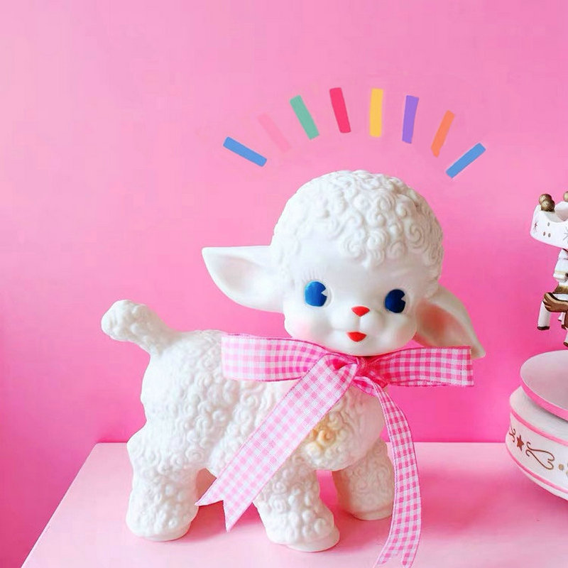 Classical Lamb Plush Toy Adorable Sheep Stuffed Toys Showa Bow Sheep Girl Sweet Heart Decoration Decora Gift For Girl Birthday