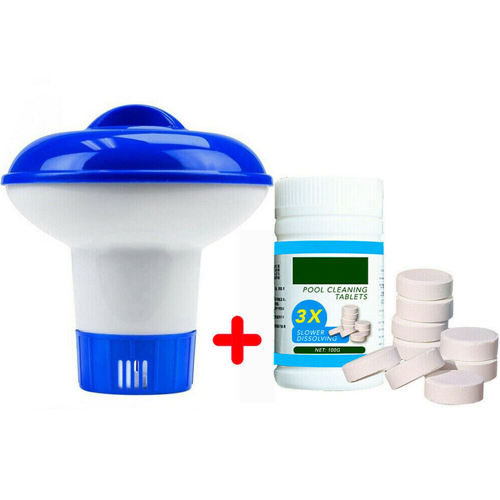 New Pool Cleaning Floating With 100pcs Purifier Tablets Swimming Pool Chlorine Dispenser Kit Drop Shipping