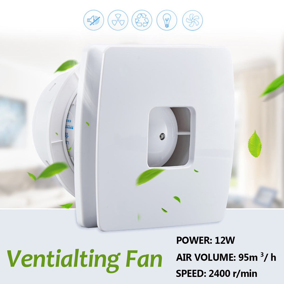4 Inch Air Vents Booster Blower Inline Ducted Fans Ventilation Pipe Exhausted Extractor Fan Ventilator For Bathroom Kitchen