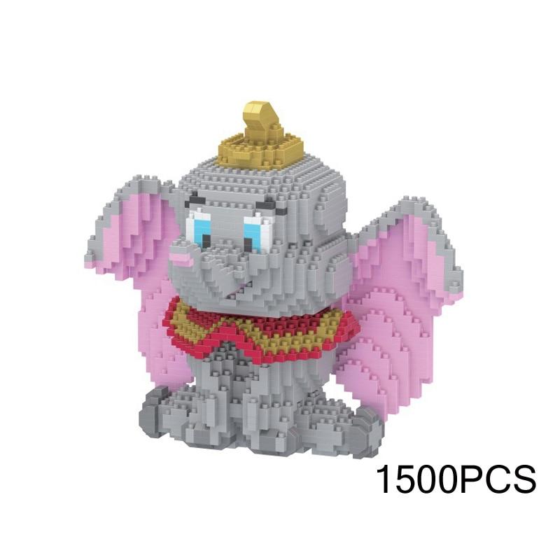 Lovely Idea Creator Animal Nano Bricks MOVIE Elephant Dumbo Micro Diamond Building Block Education Toys For Kids Gift