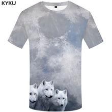 3d Tshirt Wolf T shirt Men Animal Printed Moon Shirt Print White Funny shirts Abstract Anime Clothes Mens Clothing