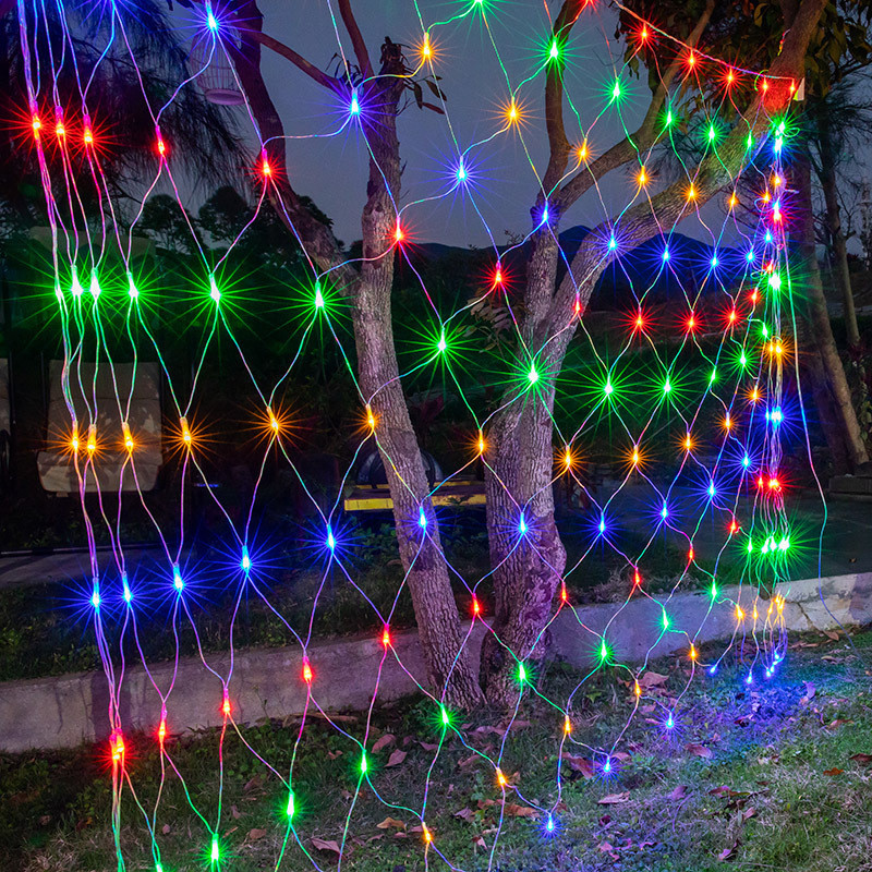 AC220V 110V Led Flexible Net String Light Wedding Xmas Garland Decor Colorful Lighting 6M X 4M High Brightness Led EU US UK Plug