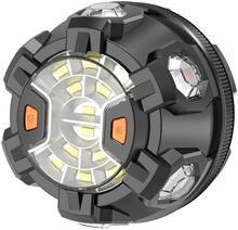 Farol do carro luz de emergência led segurança na estrada piscando lâmpada aviso lanterna com base magnética e gancho kit avaria
