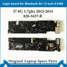 Original logic board for Macbook Air A1466 Motherboard 820-3437-B Main Board i7 8G 1.7ghz 2013-2014 tested