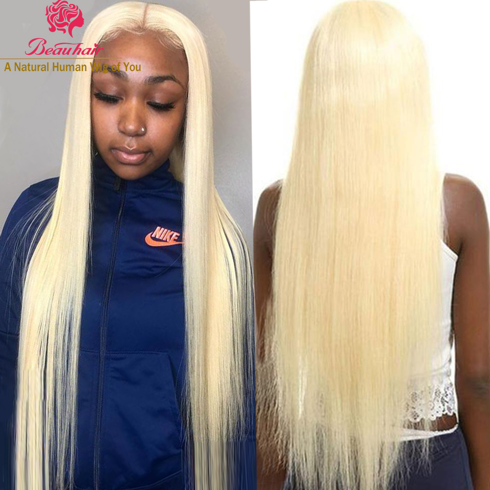 4X4 Lace Closure Wigs  613 Honey Blonde Lace Closure Human Hair Wigs With Baby Hair Remy Brazilian Human Hair Wig Free Shipping