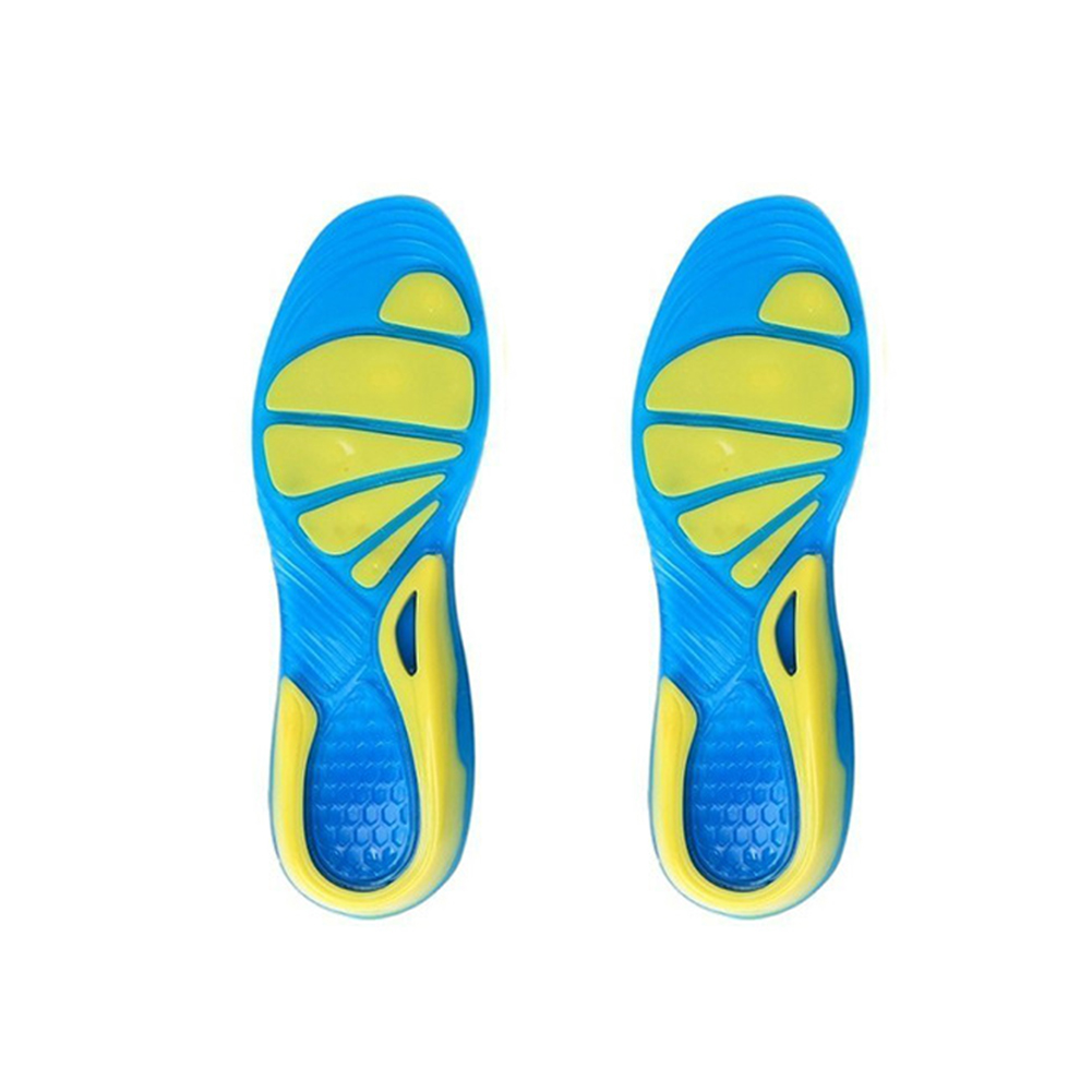 Non-Slip Shoe Pad TPE Stable Sport Cushion Orthopedic Insole Foot Care Shock Absorption Walking Running Insert Unisex Military