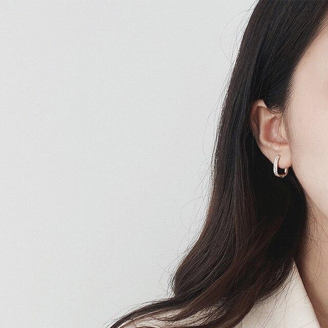 2021 coreano moda nova requintado simples brincos geométricos temperamento pequeno versátil brincos jóias femininas 2
