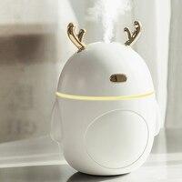 Encantador humidificador de aire de venado humidificador ultrasónico USB nebulizador de niebla fría luz LED Mini difusor de Aroma Humificador de aceite esencial|Humidificadores| |  -