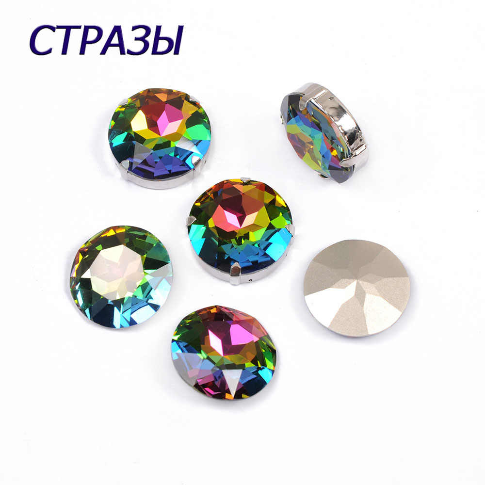CTPA3bI 1201 Round Shape Crystal Vitrail Medium Color Beads For Jewelry Making Rhinestone Art Crafts DIY Charming Accessories