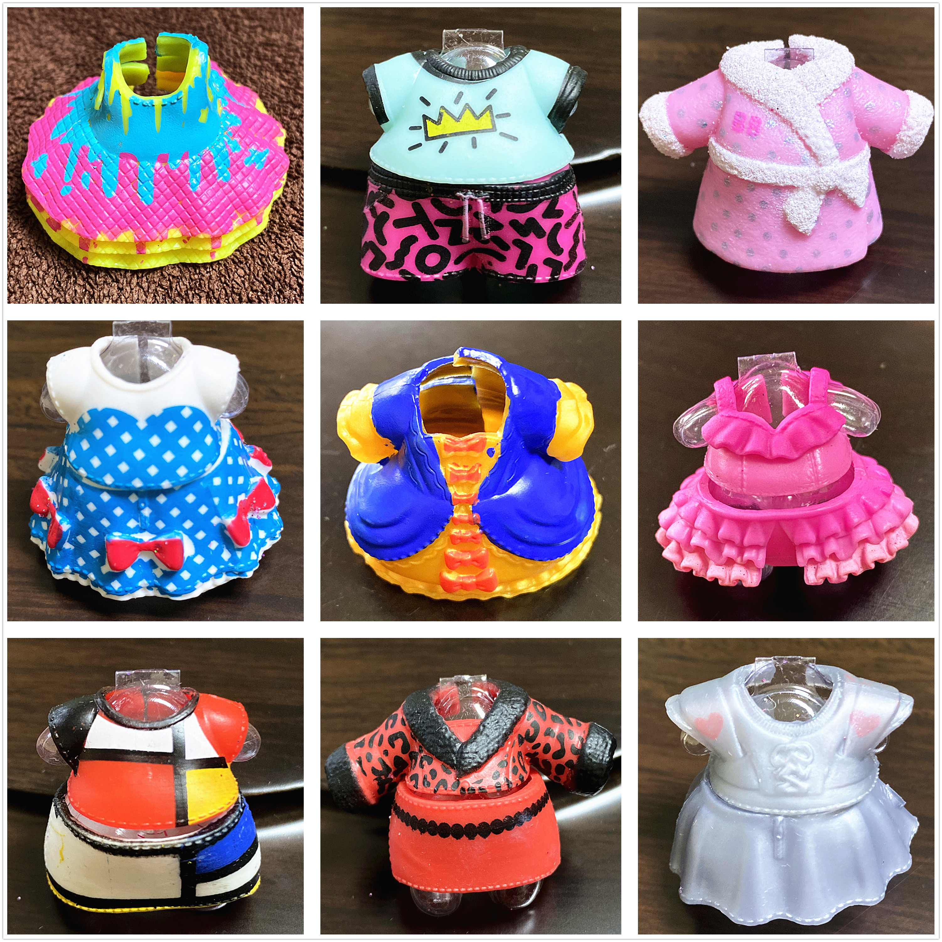 Can Choose Retail 1 Piece Original Dress Clothes Suits for LOLs 8cm Big Sister Dolls Kids Toy Girl Birthday Gift Free Shipping(China)