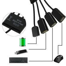 VONETS 4 в 1 Micro USB OTG концентратор USB хаб разъем сплитер для смартфона ноутбук планшетный ПК Мощность зарядный кабель аксессуар