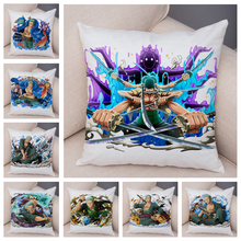 Cushion-Cover Pillowcase One-Piece Chair-Decor Sofa Home Zoro Cartoon Plush for Japan