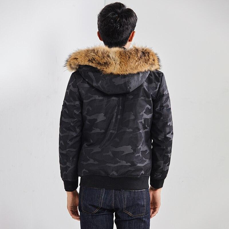 2020 Real Fur Coat Men Parka Winter Jacket For Men Natural Raccoon Fur Liner Short Mens Winter Parkas 19883 KJ3451