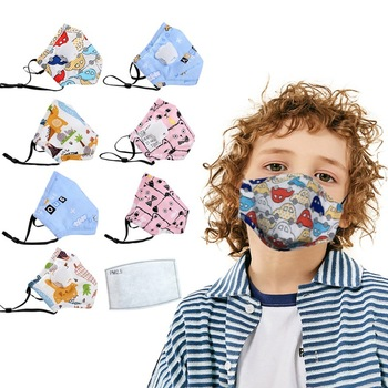 PM2.5 Children Reusable Mask With 1pc Replaceable Filter Anti Dust Mouth Mask Kids Breathable Protective Mask