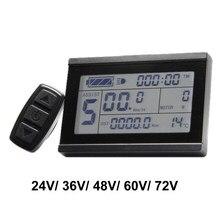 Ebike 24 v 36 48 v 60 v 72 v display inteligente kt lcd3 bicicleta elétrica peças medidor painel com conector à prova dwaterproof água