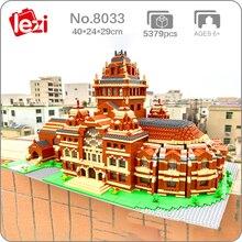 Lezi 8033 World Architecture Harvard University School 3D Model DIY Mini Diamond Blocks Bricks Building Toy for Children no Box