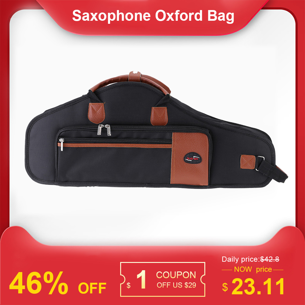 1680D Water-resistant Oxford Cloth Bag Cotton Padded Advanced Fabrics Sax Soft Case Adjustable Shoulder Strap For Alto Saxophone