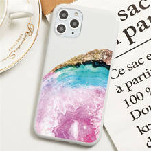 Silicone Coque Case For iPhone SE 2020 7 8 6 6s Plus 5 Marble Print Cover For iPhone 11 Pro XS Max XR X Back Cover Phone Shell