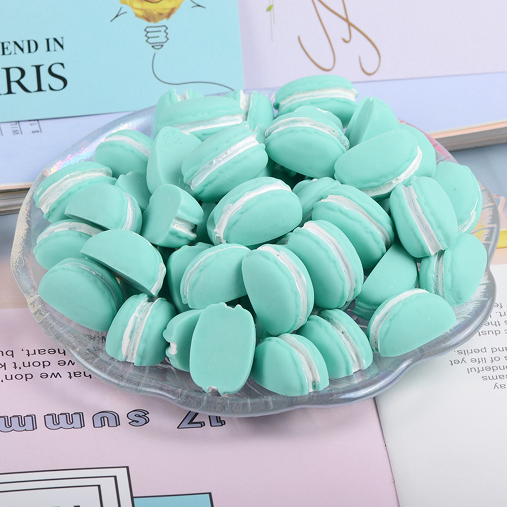 10 Pcs Resin Semicircle Macarons Food Slime Clay Charm Filling Accessories Kids Toys Personality Handmade DIY Accessories
